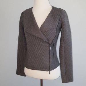 Armani Exchange knit moto sweater jacket